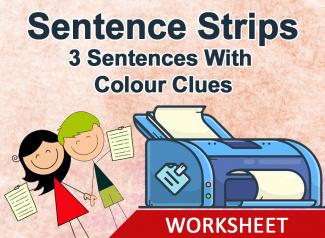 Sentence Strips- Make Three Sentences (With Colour Clues)