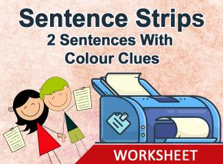 Sentence Strips- Make Two Sentences (With Colour Clues)