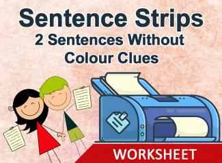 Sentence Strips- Make Two Sentences (Without Colour Clues)